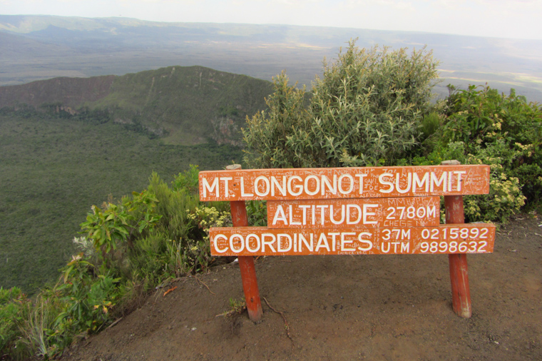 The top of Mt. Longonot crater, 2780m