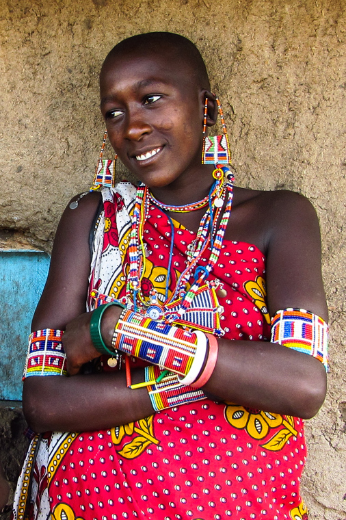 Traditional Masai attire