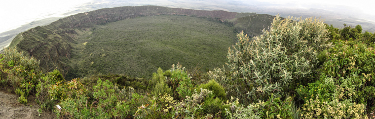 Panorama of Mt. Longonot crater