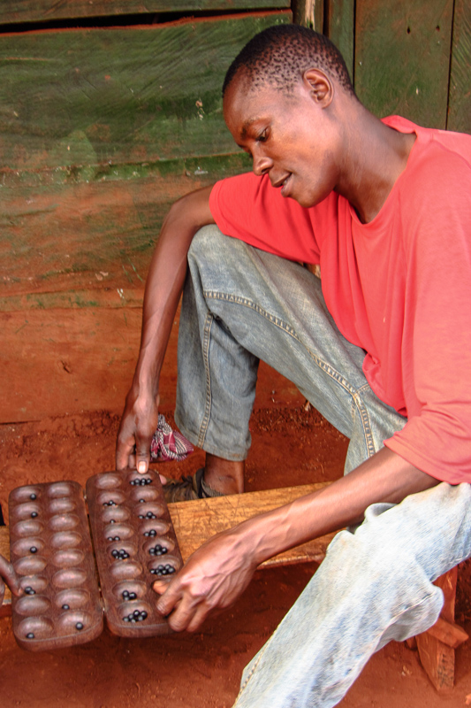 Omweso, traditional game of Ugandan people
