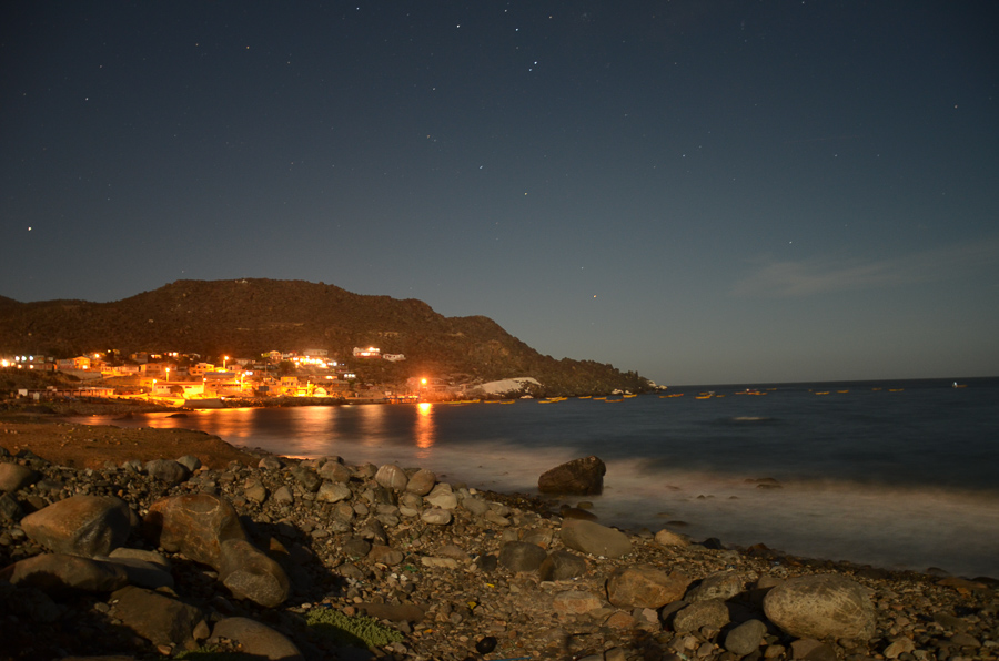 Caleta  Hornos at night