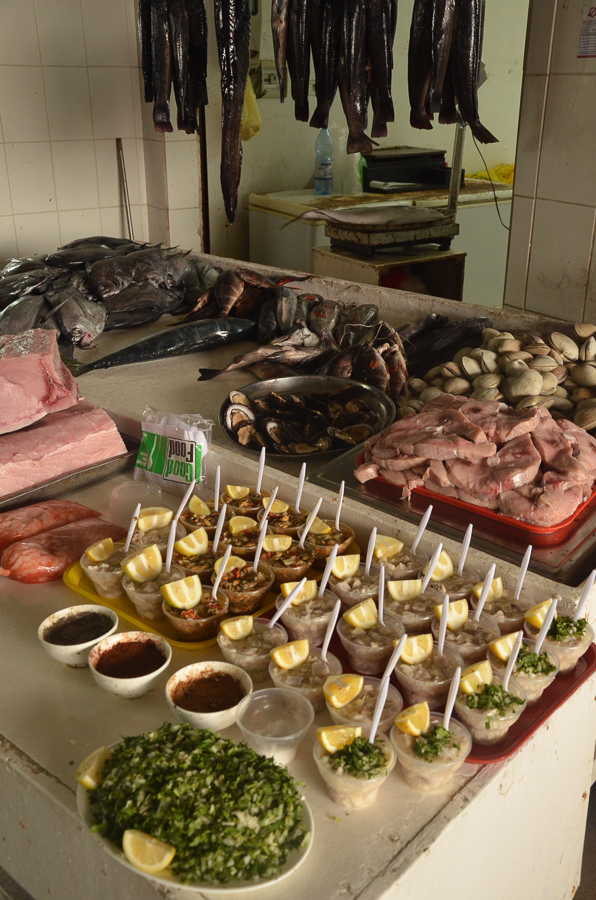 Fish market in Caldera