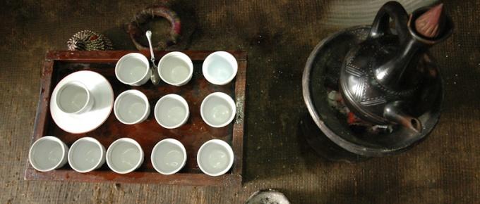 Filiżanka etiopskiej kawy