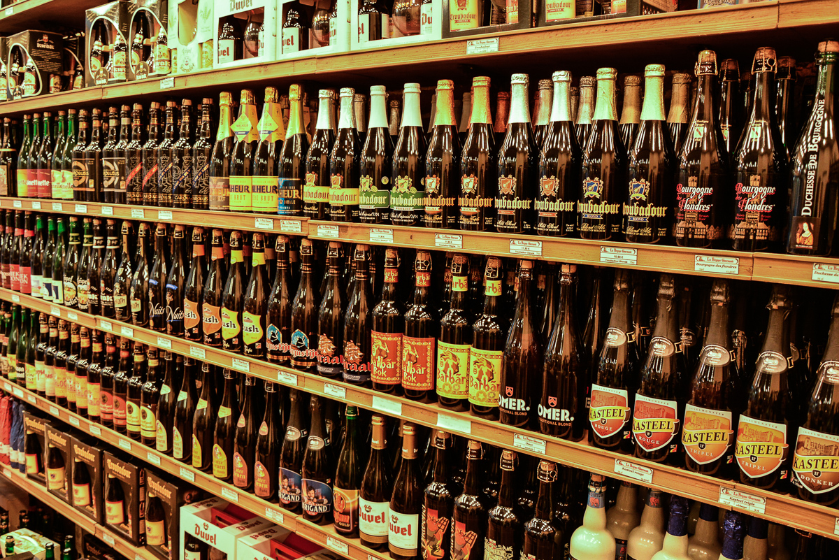 Belgian beers, a lot of beers!