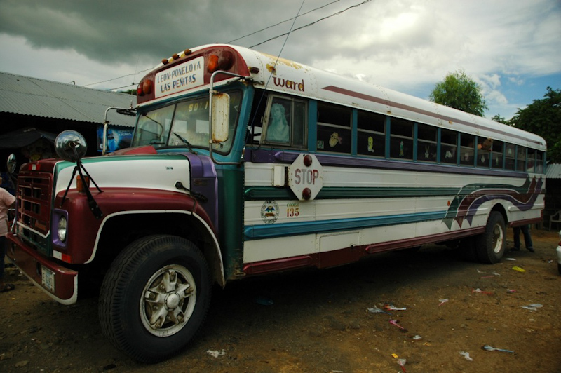 Nikaragua and chicken buses
