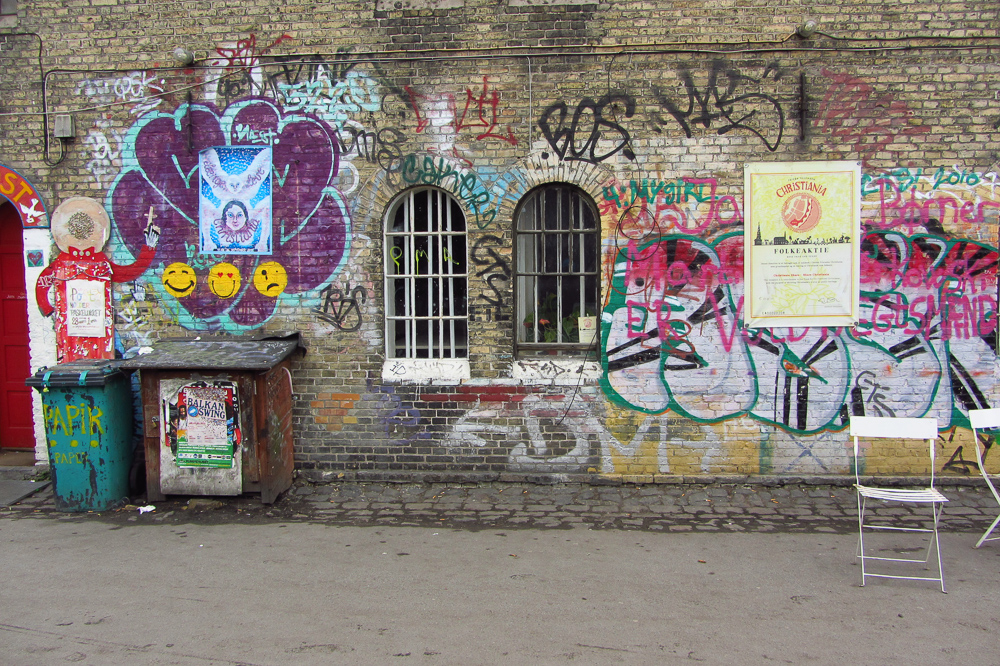 Mural painting in Christiania