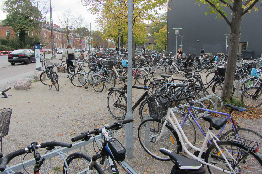 Many bicycles in Copenhagen