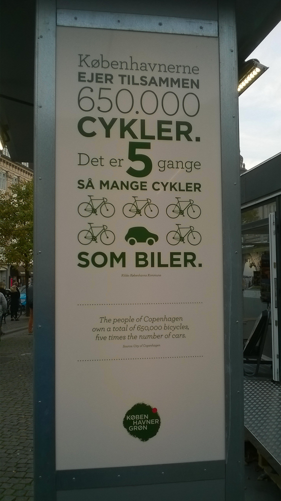 More bicycles than cars in Copenhagen