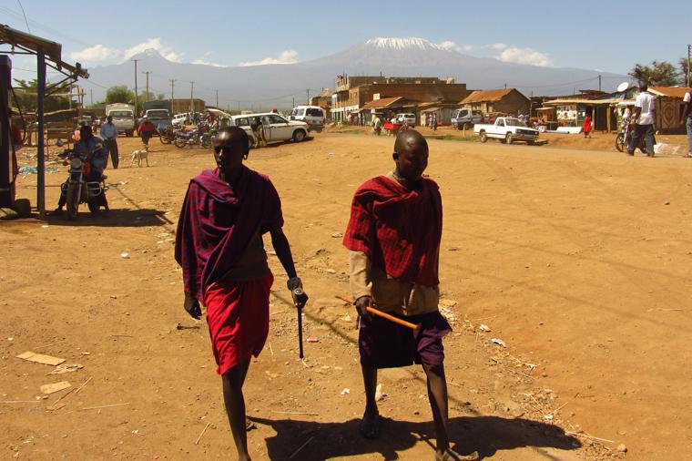 Koza w masajskiej wiosce