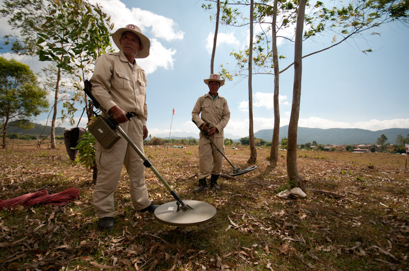 Hunting unexploded ordnance in Laos