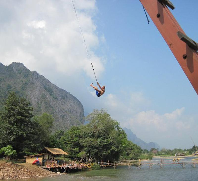 Wolność zupełna w Vieng Vieng