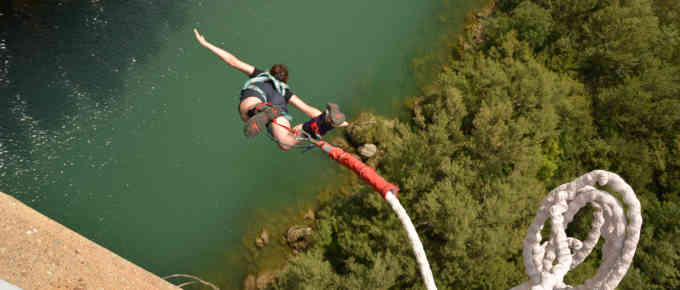 Bungee jumping, climbing, canyoning and other attractions in Slovenia