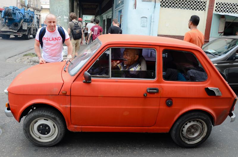 Polish Fiat 126p on Cuba