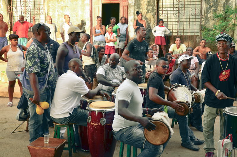 Street fiesta on Cuban streets