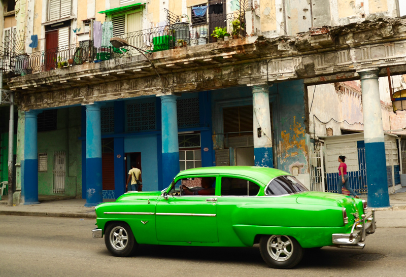 Colorful cars, everywhere on Cuba
